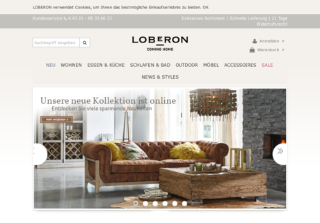loberon gutschein november 2017 30 gutscheincode. Black Bedroom Furniture Sets. Home Design Ideas