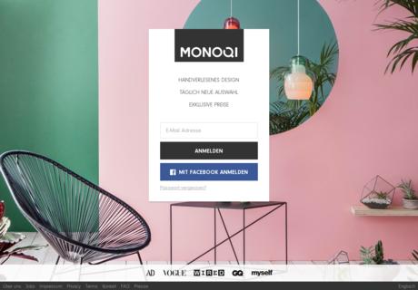 monoqi gutschein juli 2017 70 gutscheincode. Black Bedroom Furniture Sets. Home Design Ideas