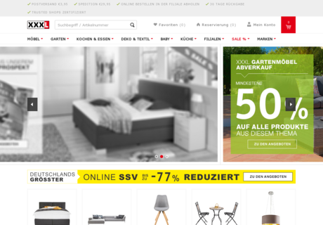 xxxl shop gutschein 50 gutscheincode november 2017. Black Bedroom Furniture Sets. Home Design Ideas