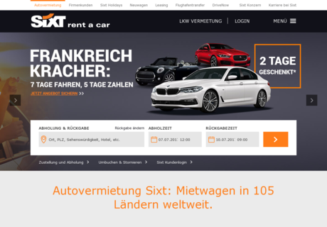 sixt gutschein november 2017 top gutscheincode. Black Bedroom Furniture Sets. Home Design Ideas